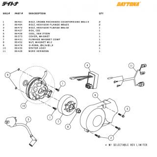 Tändnings delar Daytona ANIMA®150/190 (4 VALVES)