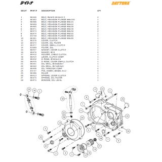 Kopplingskåpa delar Daytona ANIMA®150/190 (4 VALVES)