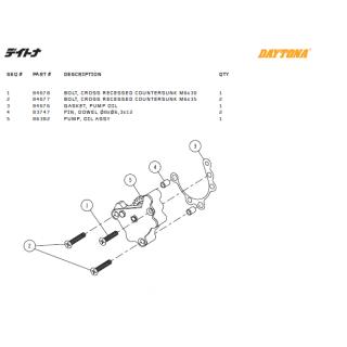 Oljepump delar Daytona ANIMA®150/190 (4 VALVES)