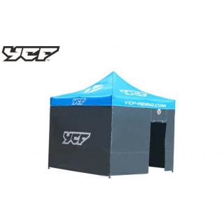 YCF Väggar till depåtält, med dörr grå