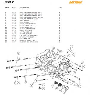 Motorblock delar Daytona ANIMA®150/190 (4 VALVES)